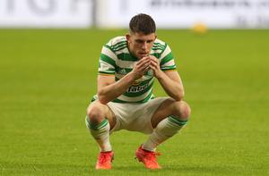 Celtic scorer Ryan Christie looks dejected after the defeat (Andrew Milligan/PA)