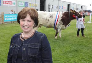 PressEye-Northern Ireland- 15th May  2019-Picture by Brian Little/PressEye  DUP Diane Dodds  at Balmoral Park during the first day of the Balmoral Show 2019 Picture by Brian Little/PressEye
