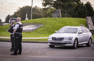 Police at the scene of an incident on the Michael Ferguson Roundabout on September 14th 2020 (Photo by Kevin Scott for Belfast Telegraph)