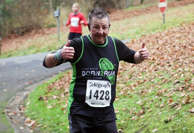 Mandatory Credit - Picture by Freddie Parkinson/Press Eye © Saturday 3rd December 2016 Belfast Telegraph Run Forest Run Loughgall. Loughgall Country Park, 11-14 Main Street, Loughgall, Armagh.  Jason Lanyon 10K Belfast