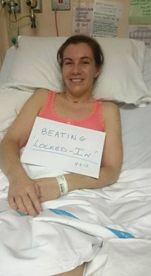 Clodagh's defiant message from her hospital bed