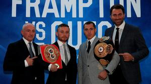 Barry McGuigan, Carl Frampton, Scott Quigg and Eddie Hearn