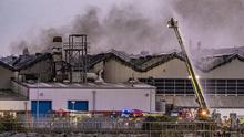 Firefighters tackling a large fire in the docks area of Belfast on May 24th 2020 (Photo by Kevin Scott for Belfast Telegraph)