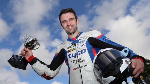 PACEMAKER, BELFAST, 24/7/2015: William Dunlop (CD Racing Yamaha) celebrates winning the opening 600cc race at the Armoy road races on Friday evening. PICTURE BY STEPHEN DAVISON