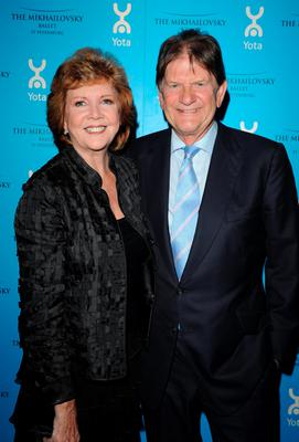 Cilla Black and John Madejski arriving at YOTA's sponsored launch of Mikhailovsky's Swan Lake, at the English National Opera, St Martin's Lane, London in 2010.