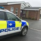 Police were in attendance at a polling station in Greencastle, County Tyrone after reports that a gunman was present. Photo Credit: Alan Lewis