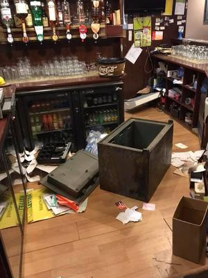 Hempton's Bar was ransacked during the break-in.