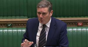 Labour leader Sir Keir Starmer confirmed there were differing opinions within the party on its approach to voting on a Brexit deal (PA/House of Commons)