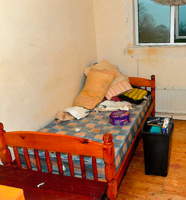 The room where Keith and Caroline Baker kept their victim imprisoned