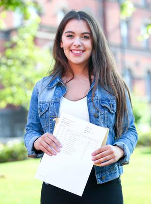 Picture - Kevin Scott / Belfast Telegraph  Belfast - Northern Ireland - Thursday 13th August 2015 - A Level Results Day   Pictured is Kerry Burns, A* 3A's  during A level results day at St Dominics  Picture - Kevin Scott / Belfast Telegraph