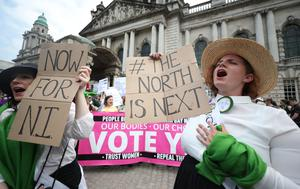 Women calling for abortion reform in Northern Ireland (Niall Carson/PA