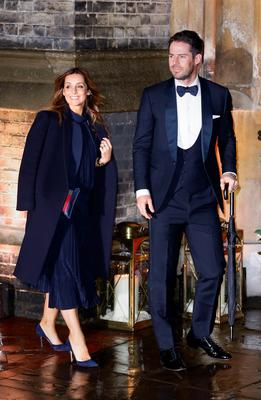 Jamie and Louise Redknapp arrive at the wedding of Christine Bleakley and Frank Lampard at St Paul's Church in Knightsbridge, London. PRESS ASSOCIATION Photo. Picture date: Sunday December 20, 2015. See PA story SHOWBIZ Lampard. Photo credit should read: Gareth Fuller/PA Wire
