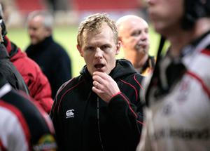 Mark McCall reacts to a defeat to Glasgow shortly before his time at Ulster came to an end.