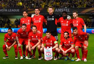 VILLARREAL, SPAIN - APRIL 28:  The Liverpool team line up prior to the UEFA Europa League semi final first leg match between Villarreal CF and Liverpool at Estadio El Madrigal on April 28, 2016 in Villarreal, Spain.  (Photo by David Ramos/Getty Images)
