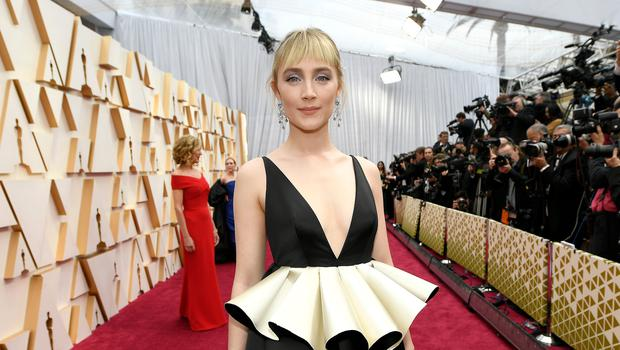 Saoirse Ronan attends the 92nd Annual Academy Awards at Hollywood and Highland on February 09, 2020 in Hollywood, California. (Photo by Kevork Djansezian/Getty Images)
