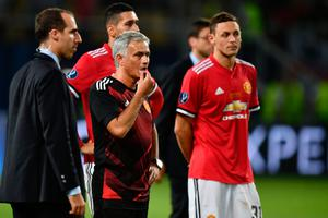 Disappointed: Jose Mourinho says United's pursuit of Gareth Bale is over after his side lost 2-1 to Real Madrid in the Super Cup