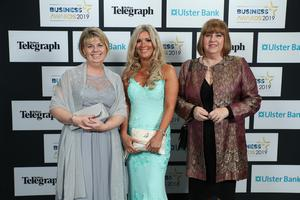Press Eye - Belfast - Northern Ireland - 2nd May 2019 -   Heather Murray, Lucy McCreery and Lesley McGaritty pictured at the Belfast Telegraph Business Awards in association with Ulster Bank at the Crowne Plaza Hotel, Belfast. Photo by Kelvin Boyes / Press Eye.