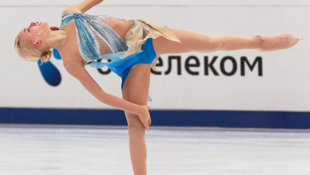 Anna Pogorilaya of Russia skates in the Ladies Short Program during ISU Rostelecom Cup of Figure Skating 2014 on November 14, 2014 in Moscow, Russia. (Photo by Oleg Nikishin/Getty Images)