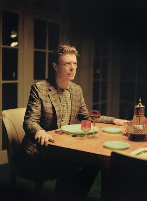 """David Bowie short film...Undated handout video still issued by The Outside Organisation of David Bowie starring in a short film entitled """"The Stars (Are Out Tonight)"""" which accompanies his new single. PRESS ASSOCIATION Photo. Issue date: Tuesday February 26, 2013. The film is directed by Floria Sigismondi and shot by Jeff Cronenweth and features David Bowie and Tilda Swinton as a happily married couple. Their world is disturbed and then re-arranged by the intrusion of a celebrity couple played by Andrej Pejic and Saskia De Brauw. See PA story SHOWBIZ Bowie. Photo credit should read: Floria Sigismondi/PA Wire NOTE TO EDITORS: This handout photo may only be used in for editorial reporting purposes for the contemporaneous illustration of events, things or the people in the image or facts mentioned in the caption. Reuse of the picture may require further permission from the copyright holder....A"""