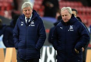 Crystal Palace manager Roy Hodgson, left, with Ray Lewington (Adam Davy/PA)