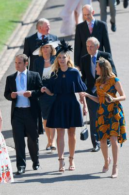 Chelsy Davy (C) attends the wedding of Prince Harry to Ms Meghan Markle. Pic: Getty images