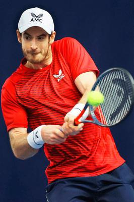 Fighting back: Andy Murray is self-isolating and said to be in good health