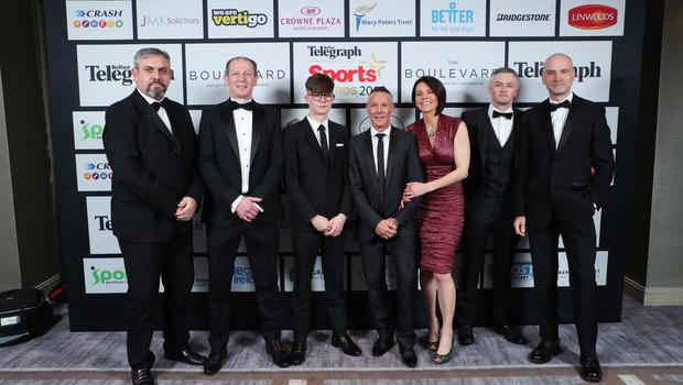 Press Eye - Belfast - Northern Ireland - 20th January  2020   Team Joe Barr  pictured at the 2019 Belfast Telegraph Sport Awards at the Crowne Plaza Hotel in Belfast.  Photo by Kelvin Boyes / Press Eye.