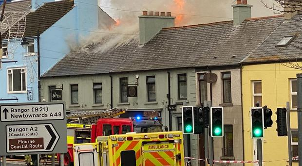 Firefighters at the scene of the blaze - (Picture by Andy McConn)