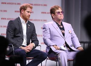 Harry and Sir Elton have been friends for a number of years. Gareth Fuller/PA Wire