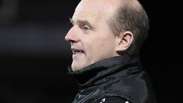 Cliftonville's manager Barry Gray