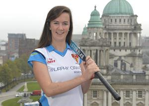 Internet star: A remarkable goal from Ulster Elks striker Rebecca Barry during her USA student days has reached almost 100,000 hits on Youtube