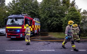 Firefighters battle a blaze at the former Police Federation building in Kilroot on June 28th 2020 (Photo by Kevin Scott for Belfast Telegraph)