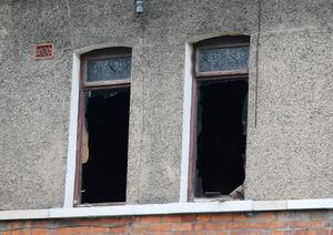 The scene on Donegall Avenue in south Belfast where a woman in her 80's died after a fire at a property on Wednesday evening.  Picture by Jonathan Porter/PressEye