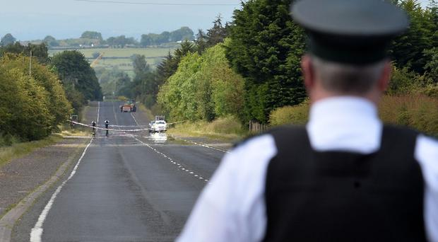 A man in his 40s has died in an incident on Belfast Road, Nutts Corner, County Antrim. Photo Pacemaker Press