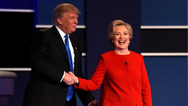 Showdown: Donald Trump and Hillary Clinton traded blows in the first televised presidential debate on Monday night