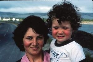 Claire Hanna as a child with mum Carmel