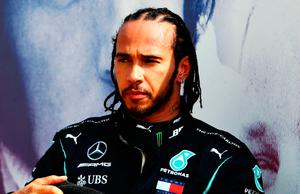 In air: Lewis Hamilton will soon be out of contract