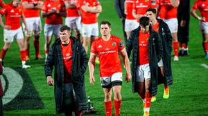 Downer: Peter O'Mahony, CJ Stander and Conor Murray lead off dejected Munster after their PRO14 final defeat by Leinster