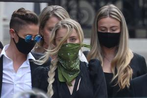 Amber Heard has been attending the libel case at the High Court in central London (Yui Mok/PA)