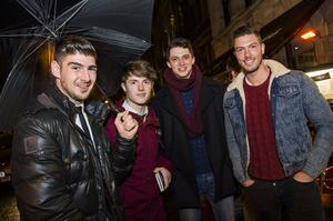 Peter Mooney, Peter Allen, Paul Martin and Adam Maxted at The Cloth Ear, Belfast