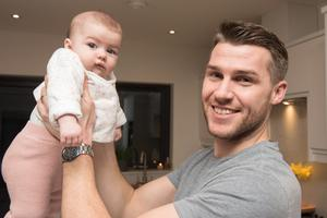 Stephen with his four month old daughter Allie.