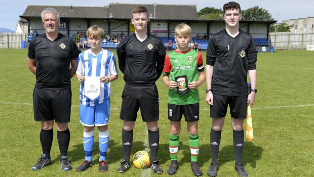 1st August 2019  Statsports Supercup NI 2019  Minor section semi final  match between Glentoran and Finn Harps at Seahaven in Portstewart.  Mandatory Credit : Stephen  Hamilton/Presseye