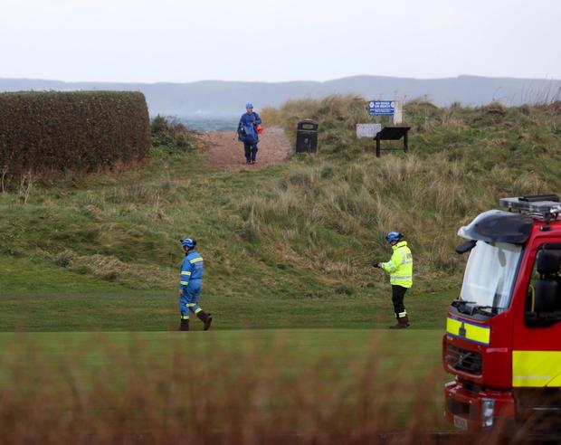 NIFRS, HEMS,NIAS,HMGC RNLI, and police are dealing with the incident. PICTURE KEVIN MCAULEY/MCAULEY MULTIMEDIA