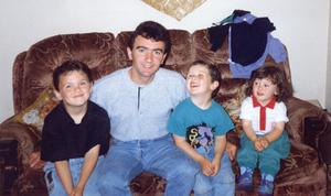 Robert Dunlop with his three sons William, Daniel and Michael