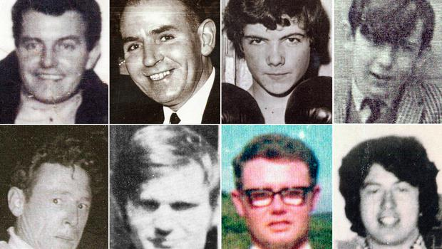 """BEST QUALITY AVAILABLE Bloody Sunday Trust undated handout photos of (top row, left to right) Patrick Doherty, Bernard McGuigan, John """"Jackie"""" Duddy and Gerald Donaghey, (bottom row, left to right) Gerard McKinney, Jim Wray, William McKinney and John Young who were killed on Bloody Sunday. Northern Ireland's Director of Public Prosecutions has announced that a solider will face prosecution for the murders of James Wray and William McKinney and the attempted murders of Joseph Friel, Michael Quinn, Joe Mahon and Patrick O'Donnell. PRESS ASSOCIATION Photo. Issue date: Thursday March 14, 2019. Thirteen civil rights demonstrators were shot dead on January 30 1972, in Londonderry on one of the most notorious days of the Northern Ireland Troubles. See PA story ULSTER Sunday. Photo credit should read: Bloody Sunday Trust/PA Wire"""