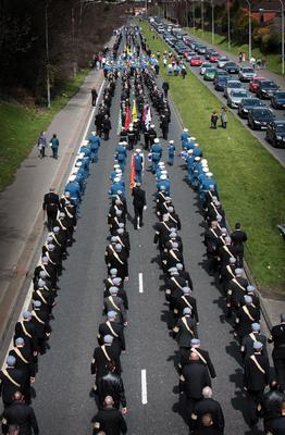 UVF parade in East Belfast 20/04/13