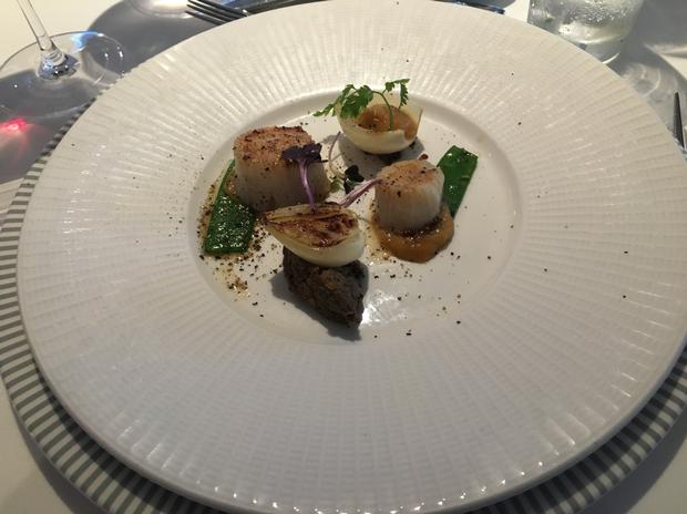 Food served on the Fred Olsen cruise ship Balmoral - Norway