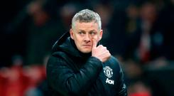 Theatre of nightmares: Ole Gunnar Solskjaerwatches his side lose to Burnley