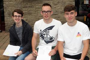 Mandatory Credit - Picture by Freddie Parkinson/Press Eye © Thursday 15 August 2019 Ballyclare High School A Level Results on the increase once again in Ballyclare High School. Philip Rainey 4A, Jay Dundee 1A* 2A and Stewart Hull 2A8 B.