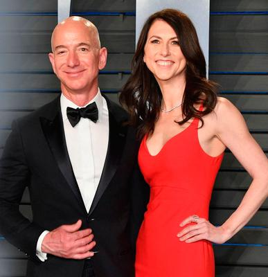 Before the split: Jeff and MacKenzie Bezos were married for 25 years